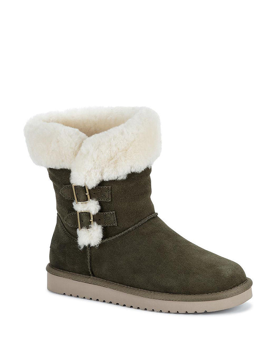 Koolaburra Olive Winter Boots