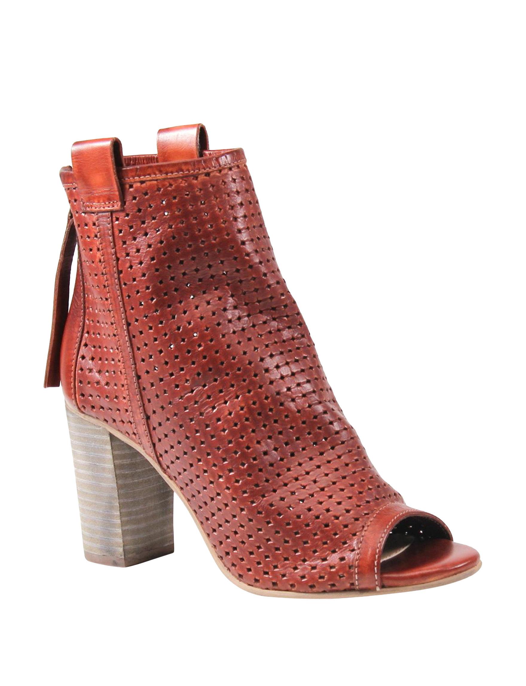Diba True Tan Ankle Boots & Booties Peep Toe