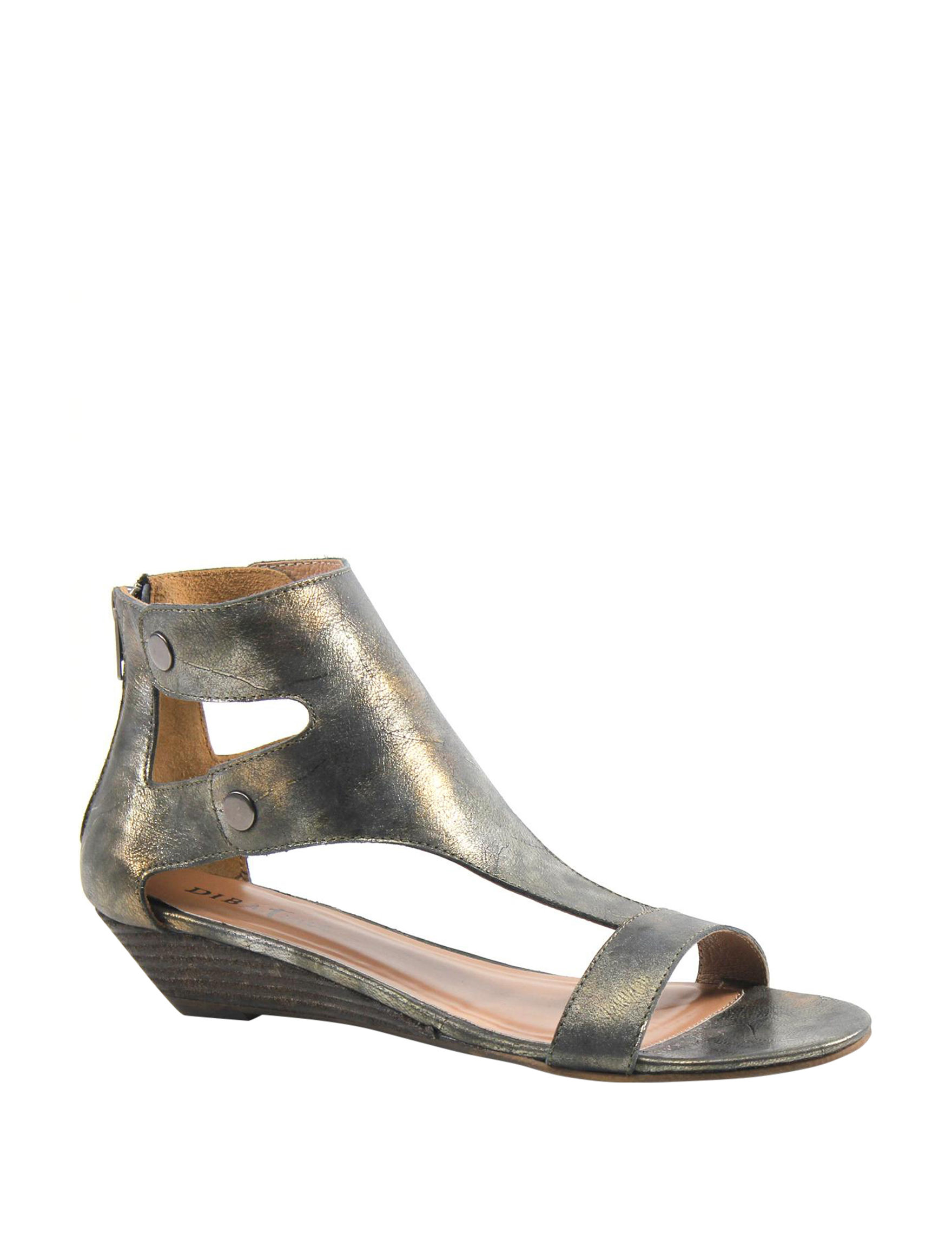 Diba True Pewter Slipper Sandals