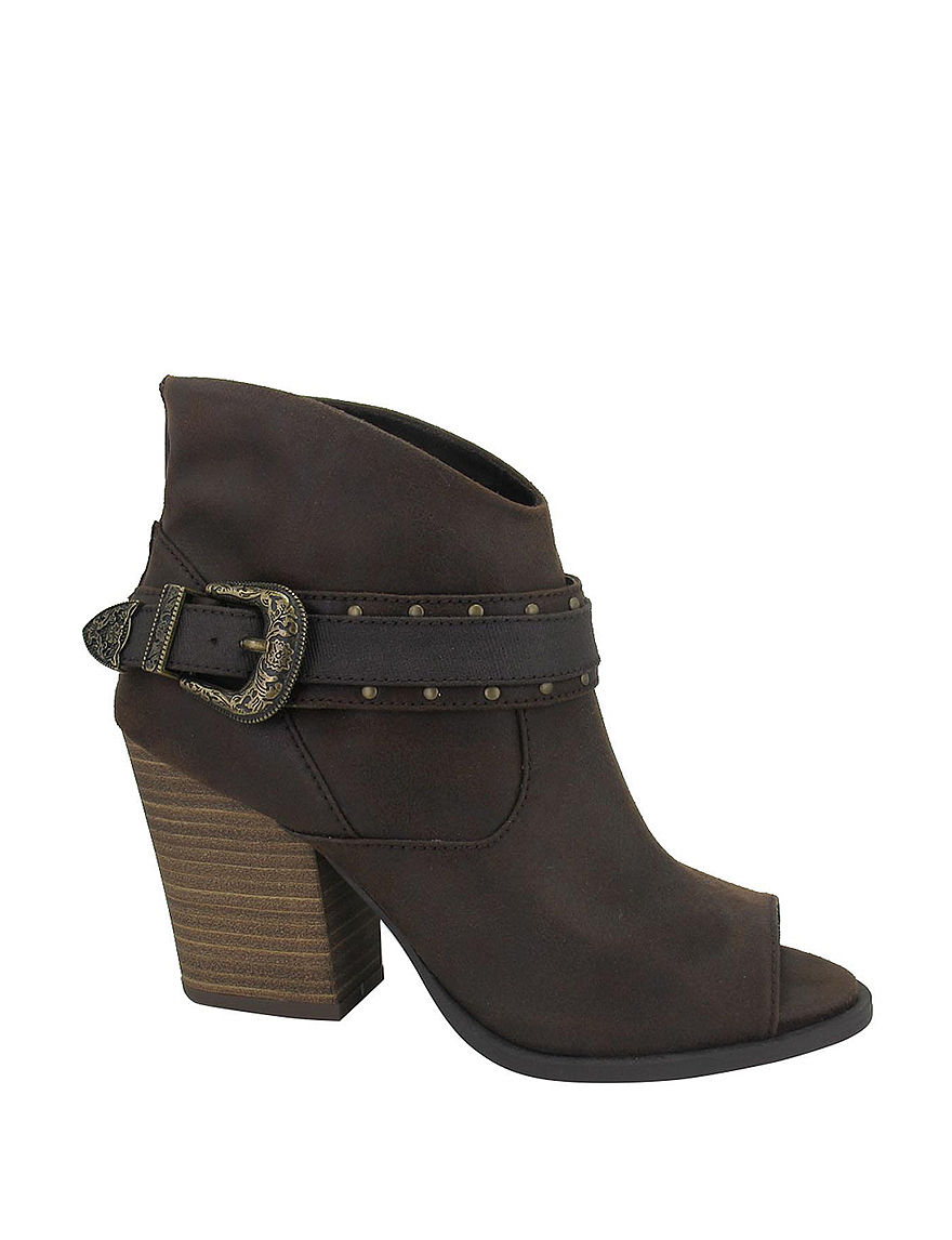 Jellypop Brown Ankle Boots & Booties Peep Toe