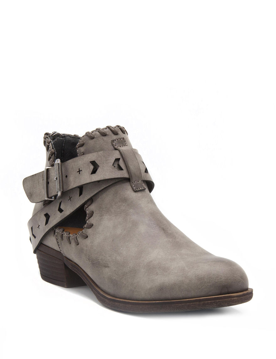 Rampage Grey Ankle Boots & Booties