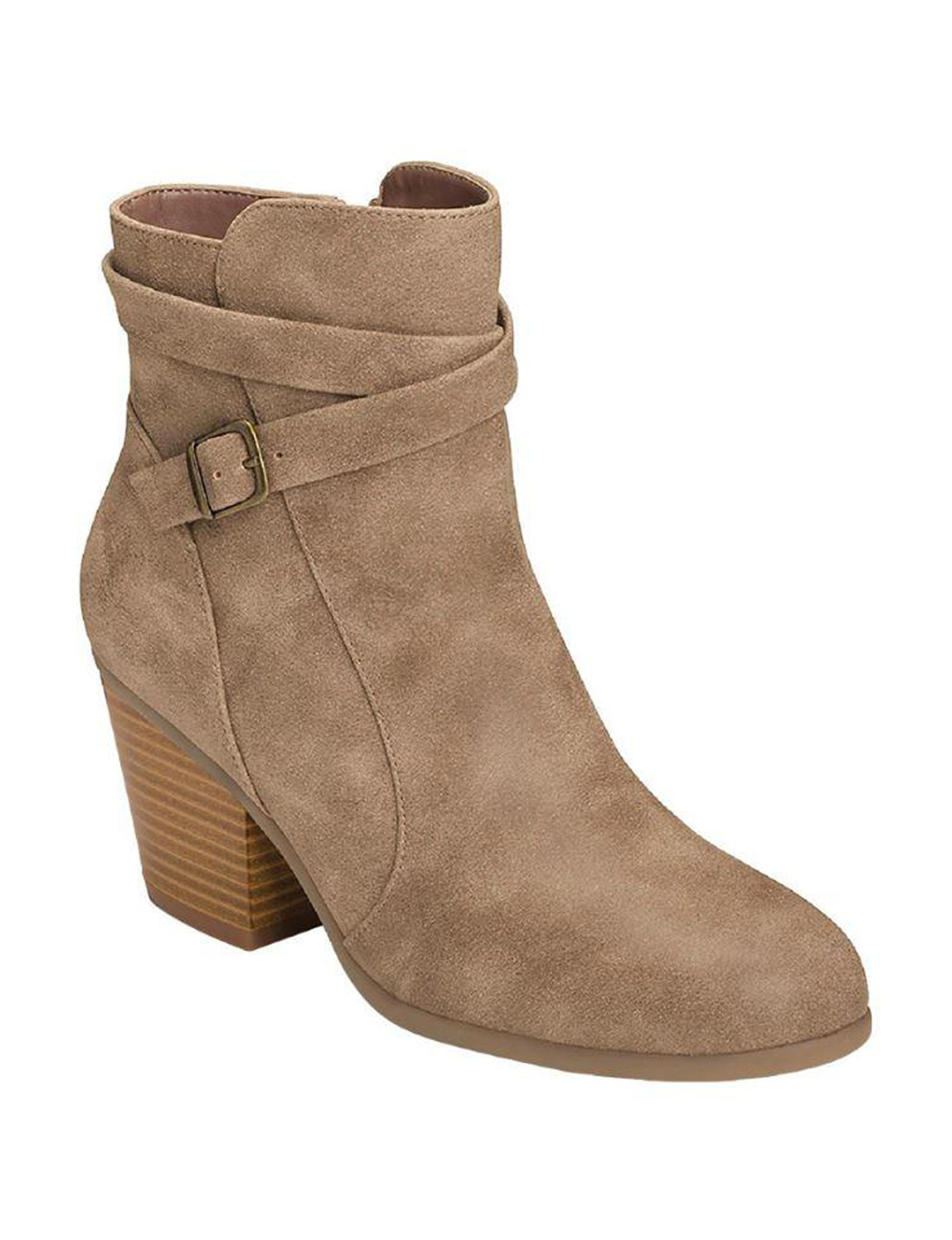 A2 by Aerosoles Taupe Ankle Boots & Booties