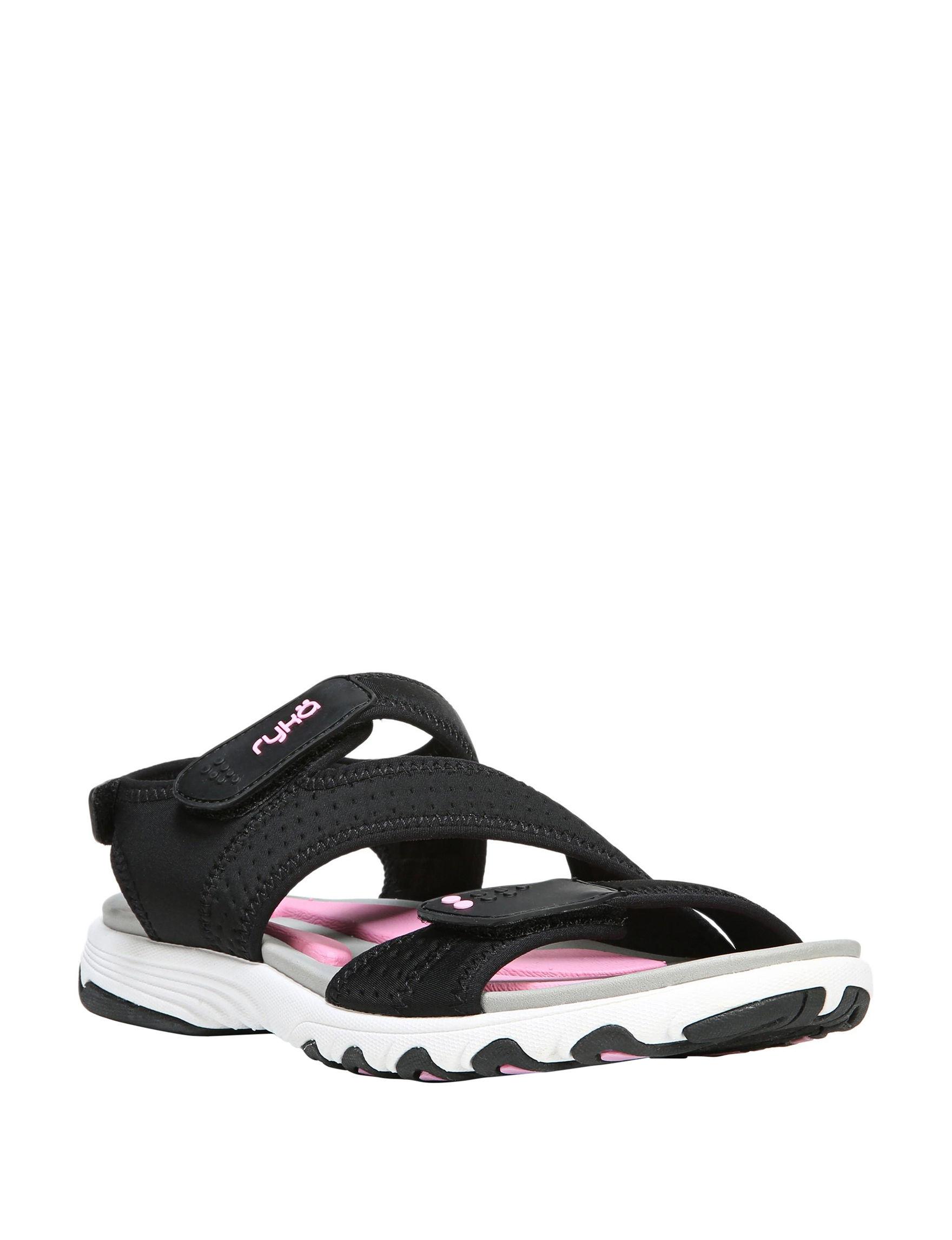 Ryka Black Sport Sandals