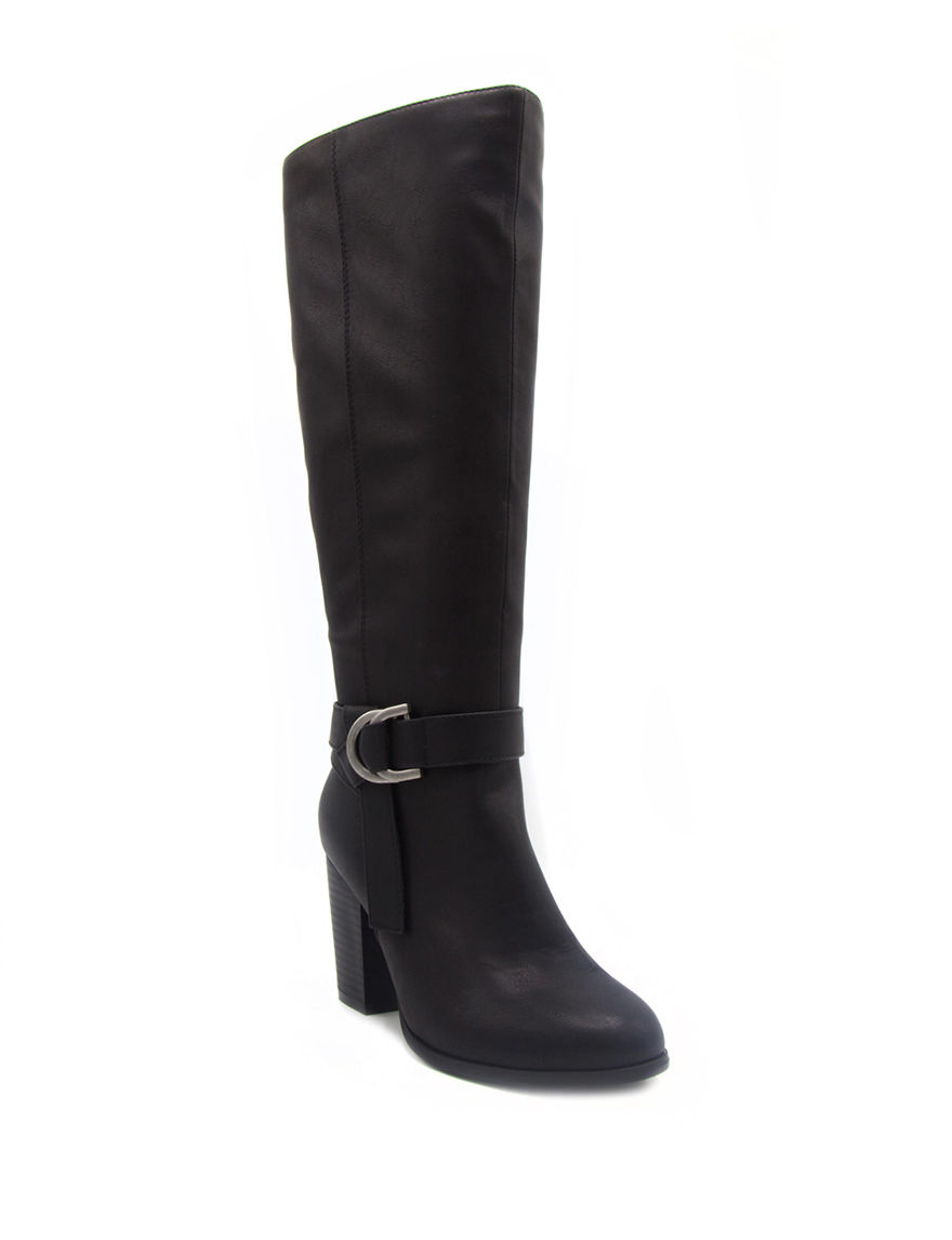 Rampage Black Riding Boots Wide Calf