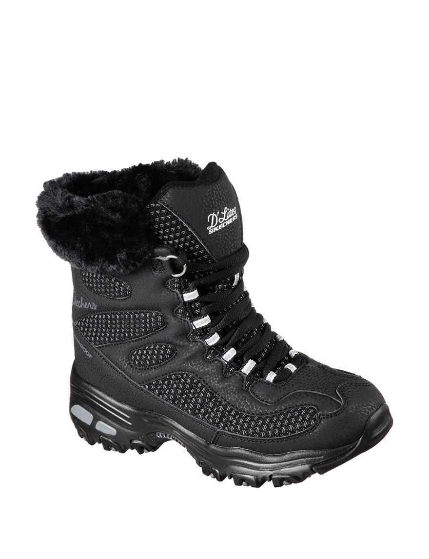 Skechers Black Hiking Boots Winter Boots