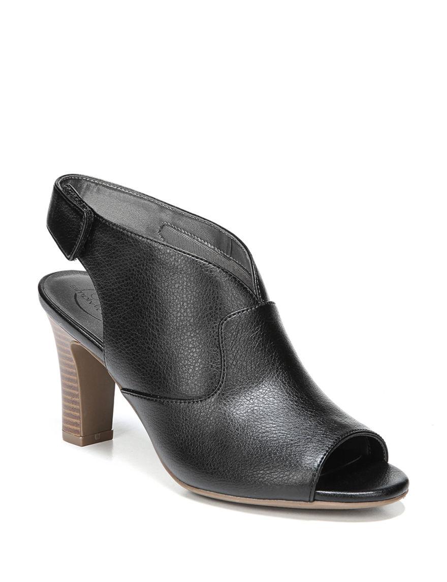 Lifestride Black Ankle Boots & Booties Peep Toe