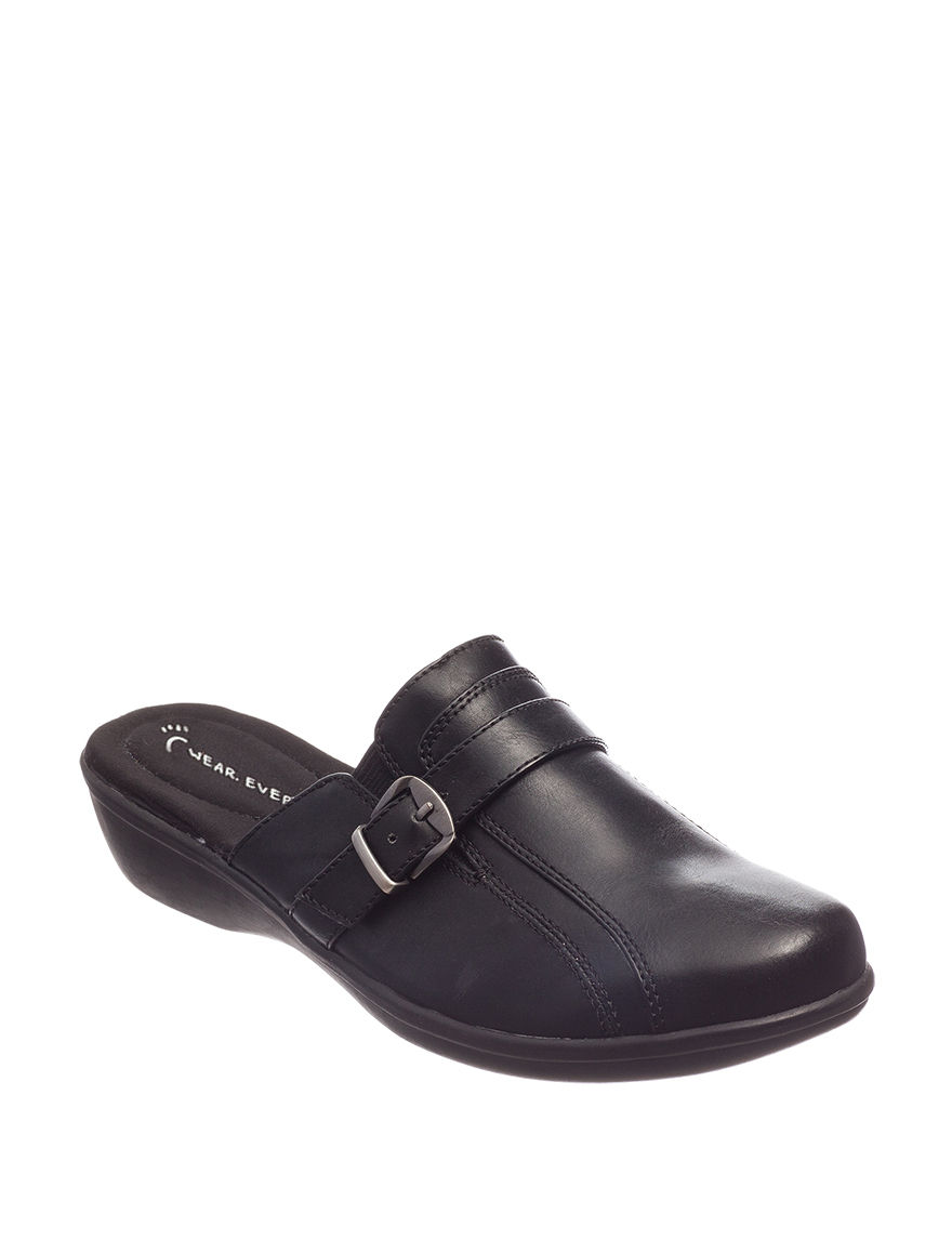 Wear. Ever. Black Mules Comfort