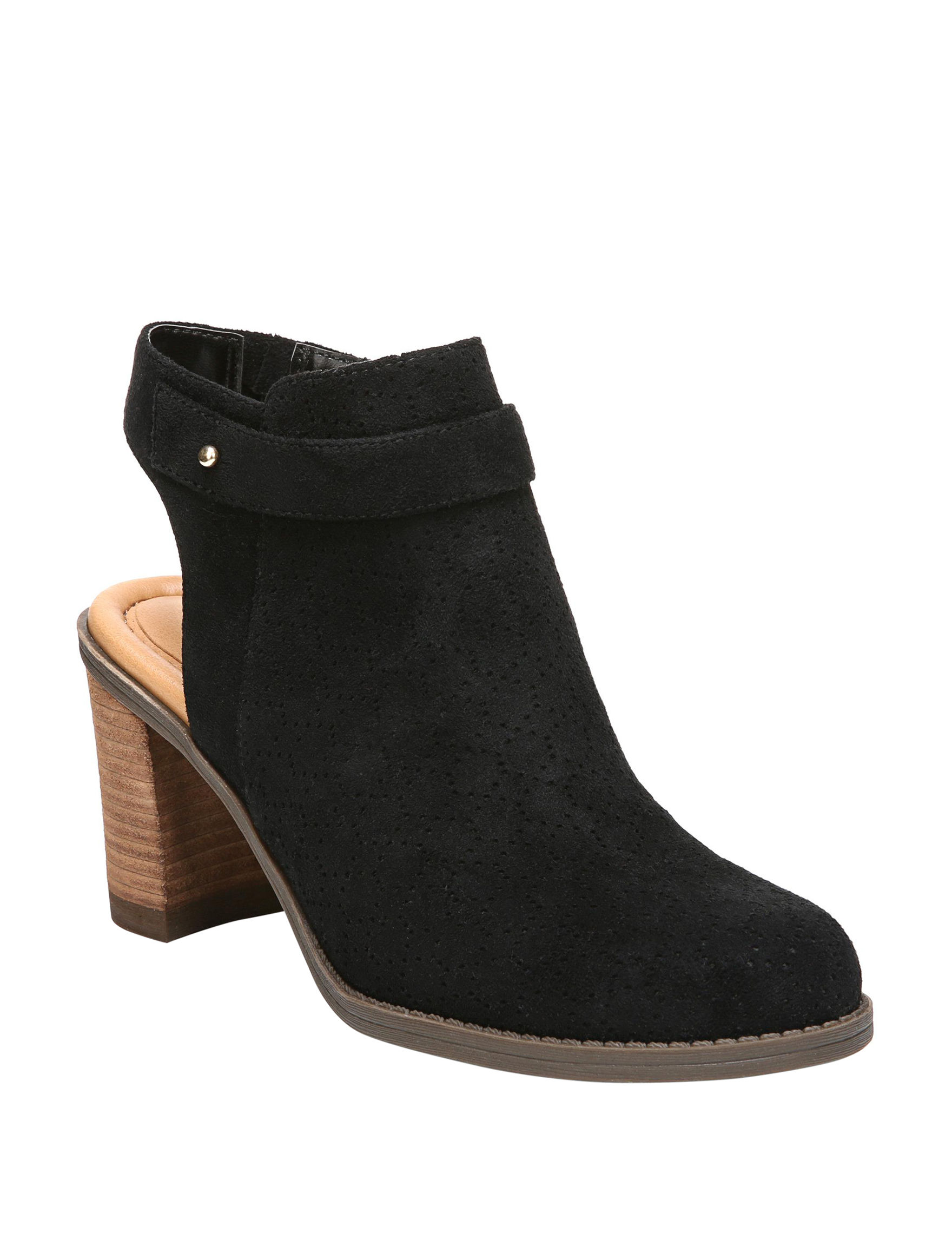 Dr. Scholl's Black Suede Ankle Boots & Booties