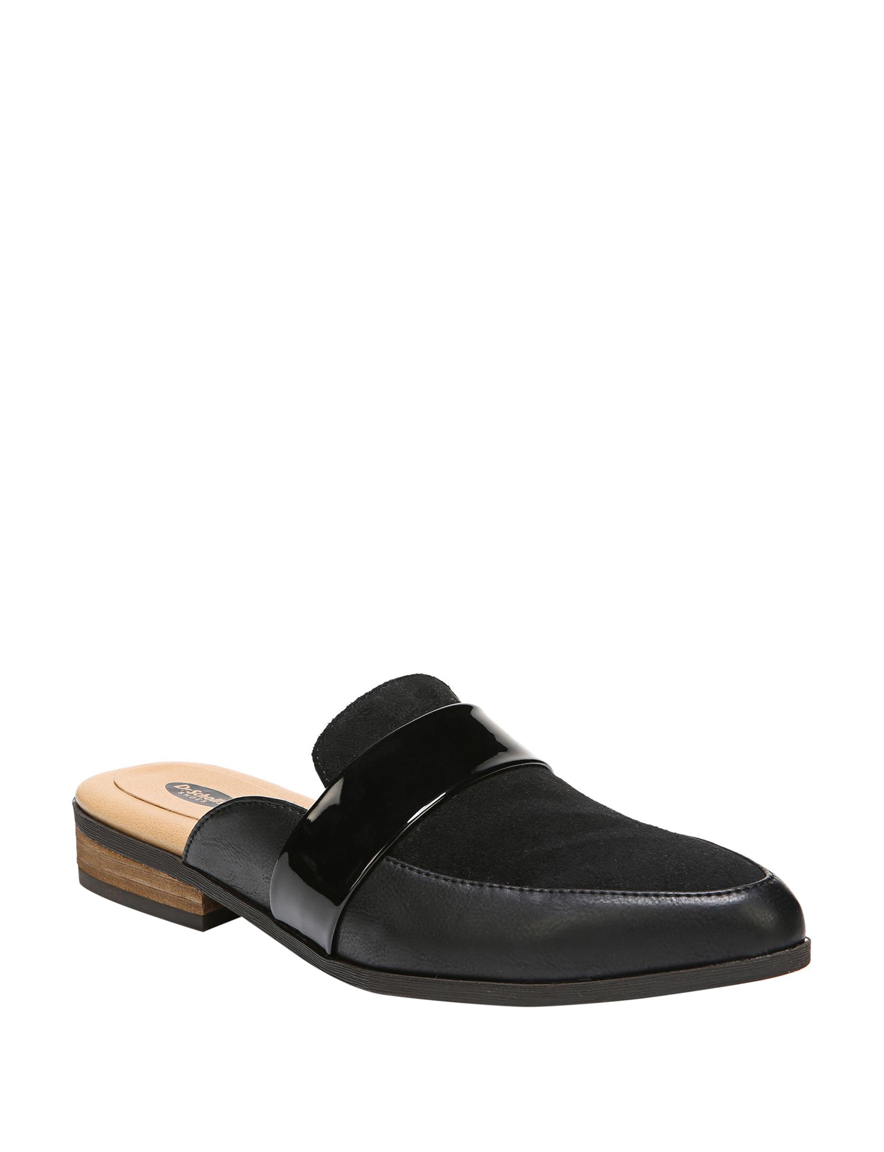 Dr. Scholl's Black Flat Sandals