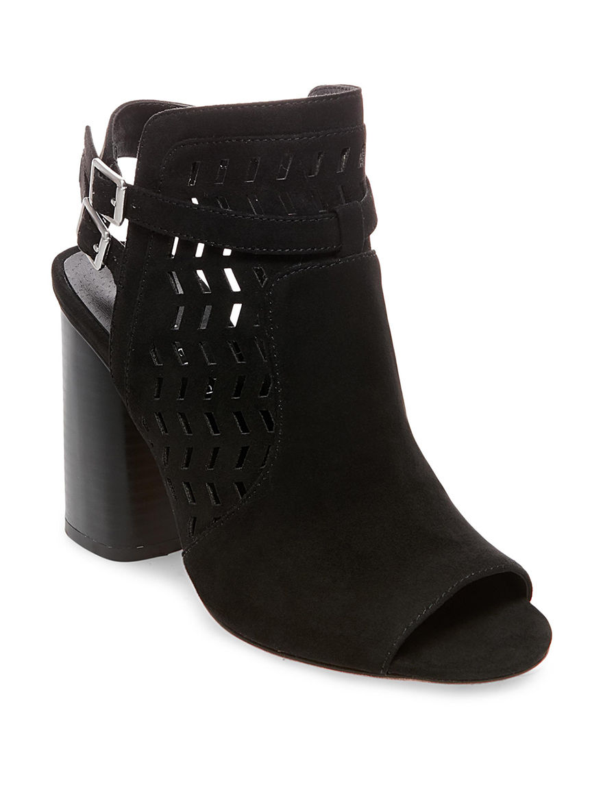 Madden Girl Black Ankle Boots & Booties Peep Toe