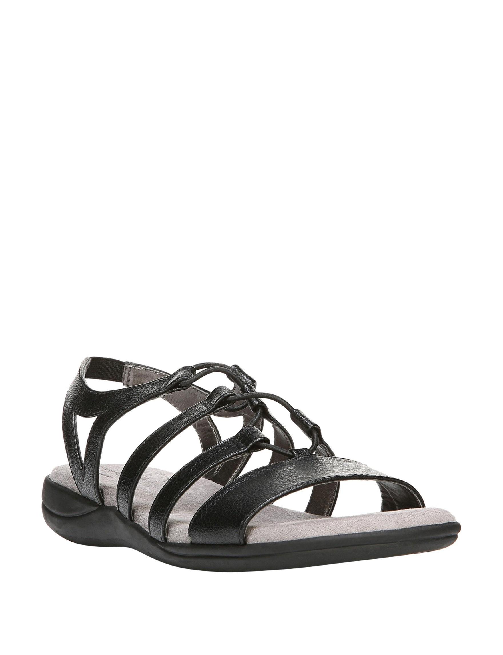 Lifestride Black Flat Sandals
