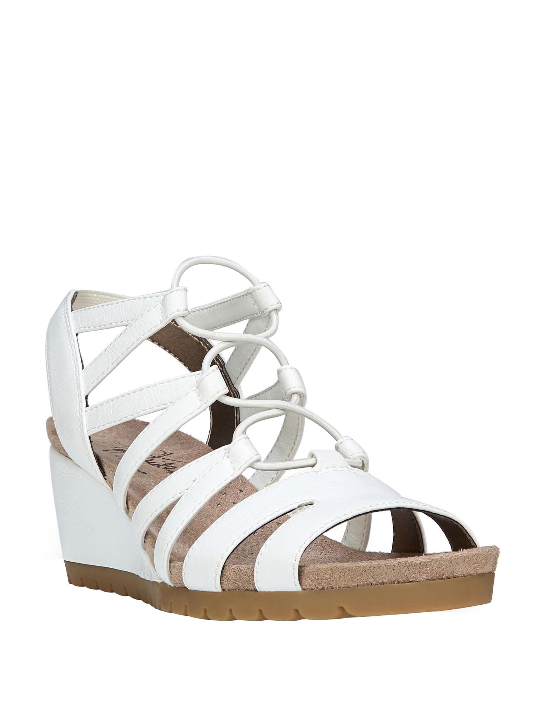 Lifestride White Heeled Sandals