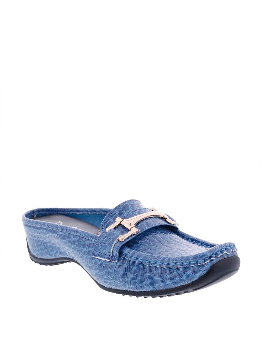 Bellini Blue Mules