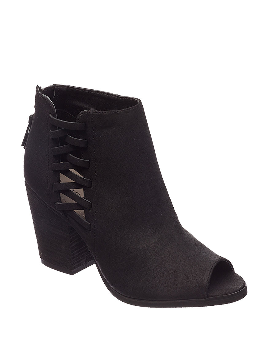 Rampage Black Ankle Boots & Booties Peep Toe