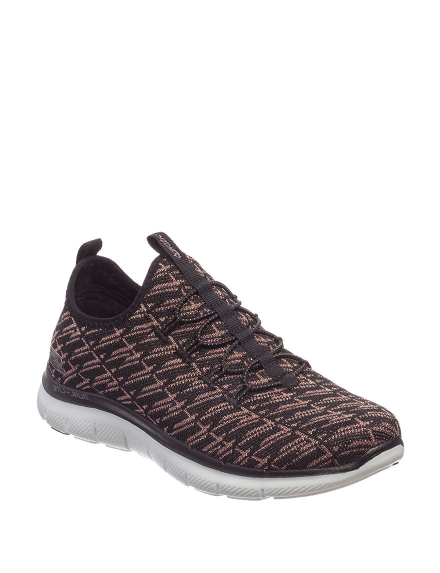Skechers Black / Rose Gold