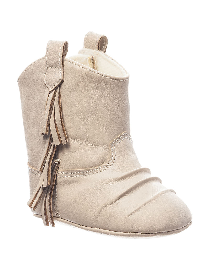Baby Deer Ivory Ankle Boots & Booties
