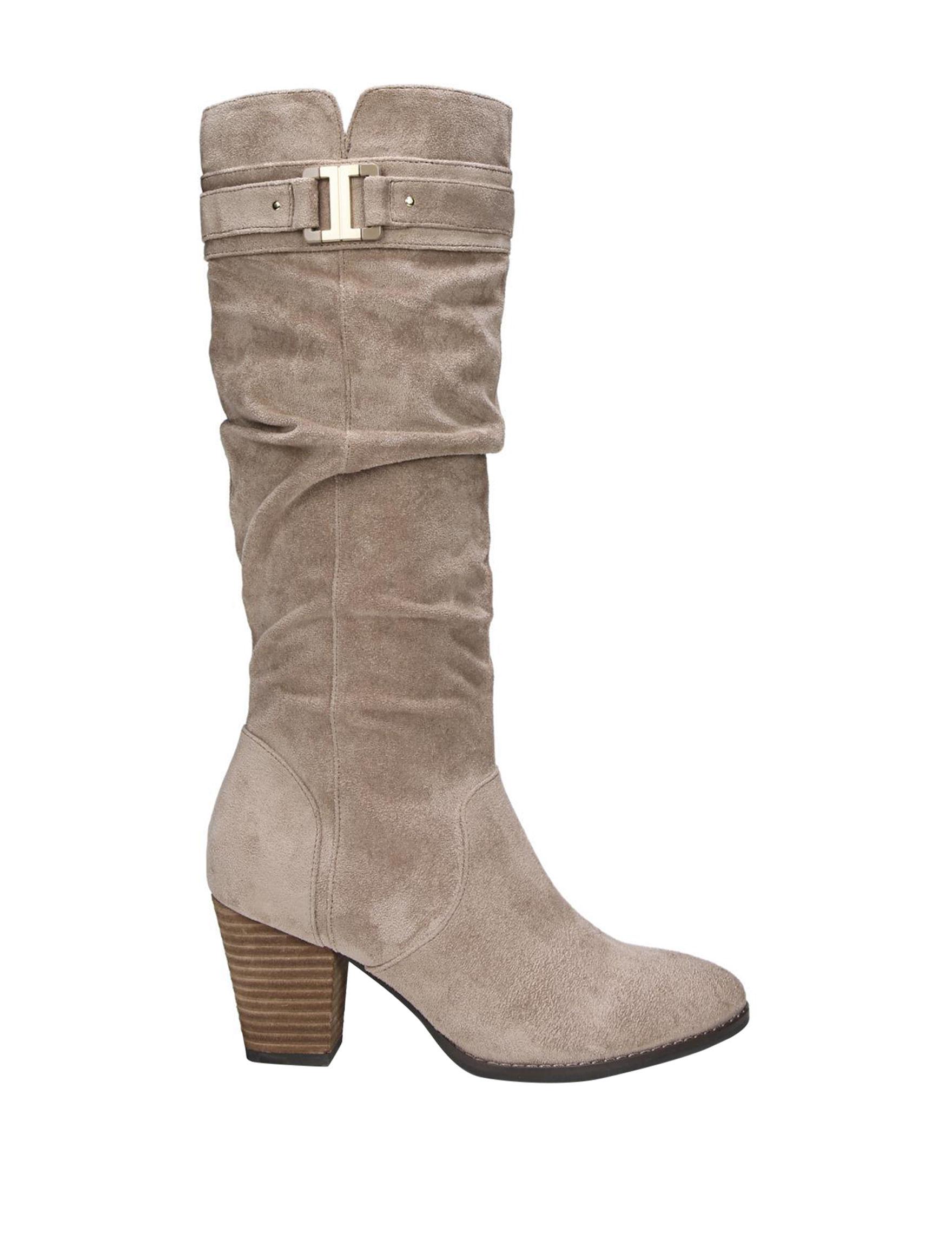 Dr. Scholl's Light Beige Riding Boots Comfort