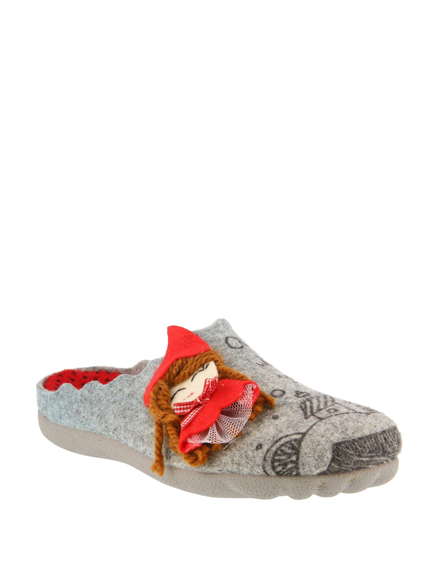 Flexus Gray Slipper Shoes