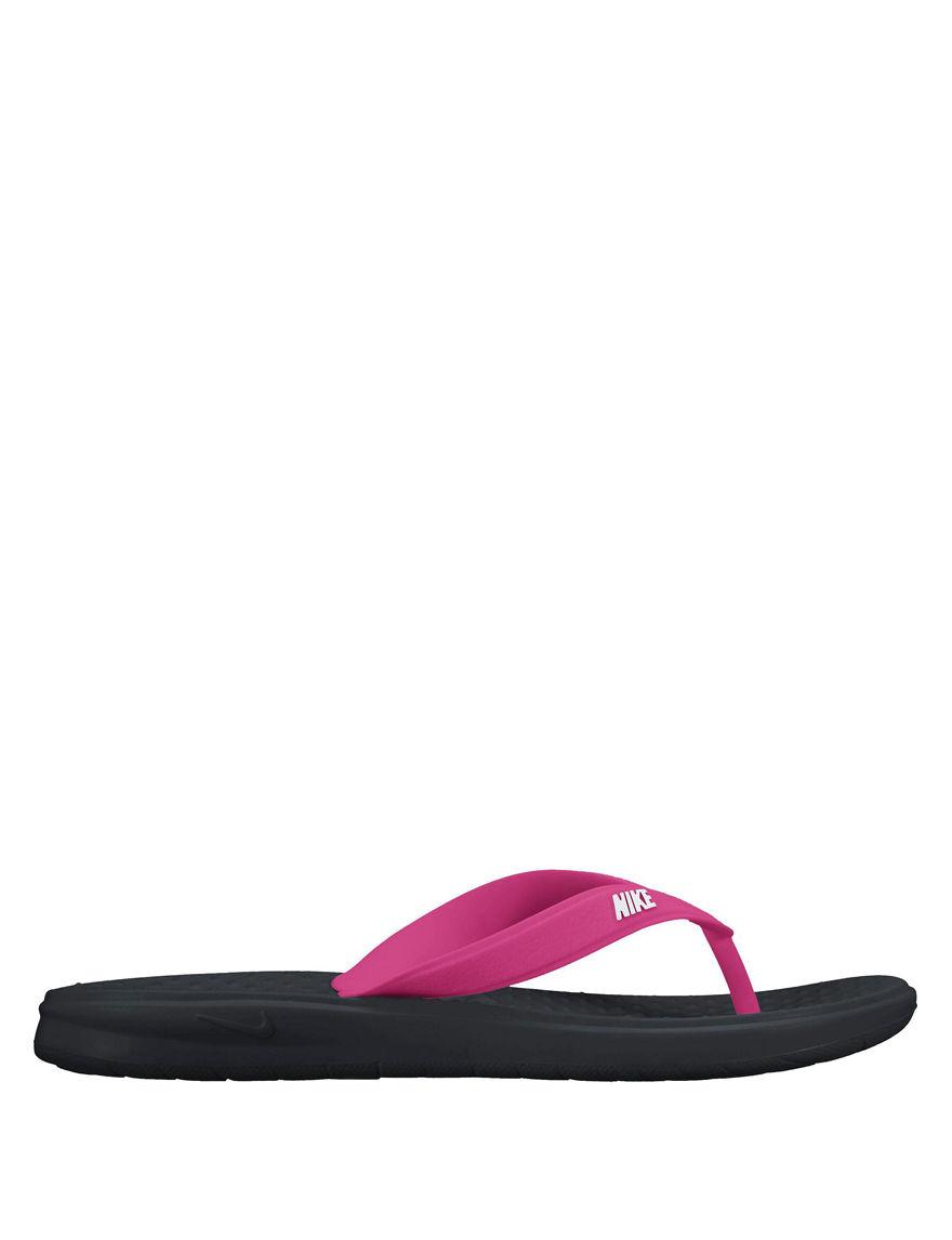 Nike Black / Pink Flip Flops
