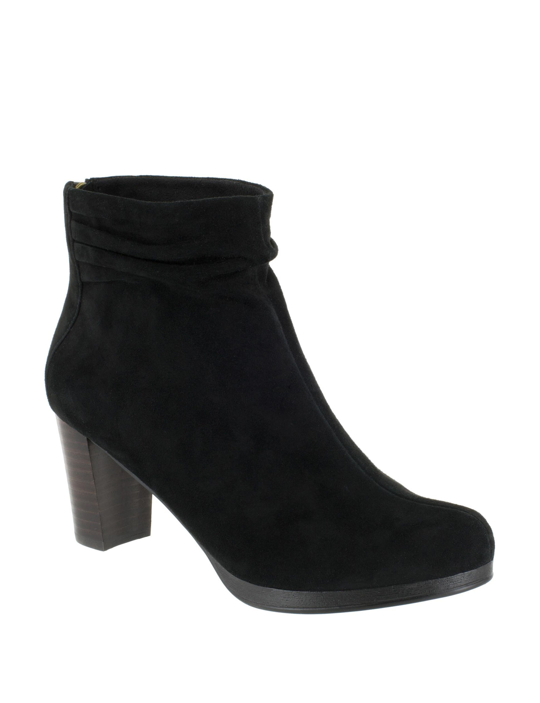 Bella Vita Black Suede Ankle Boots & Booties