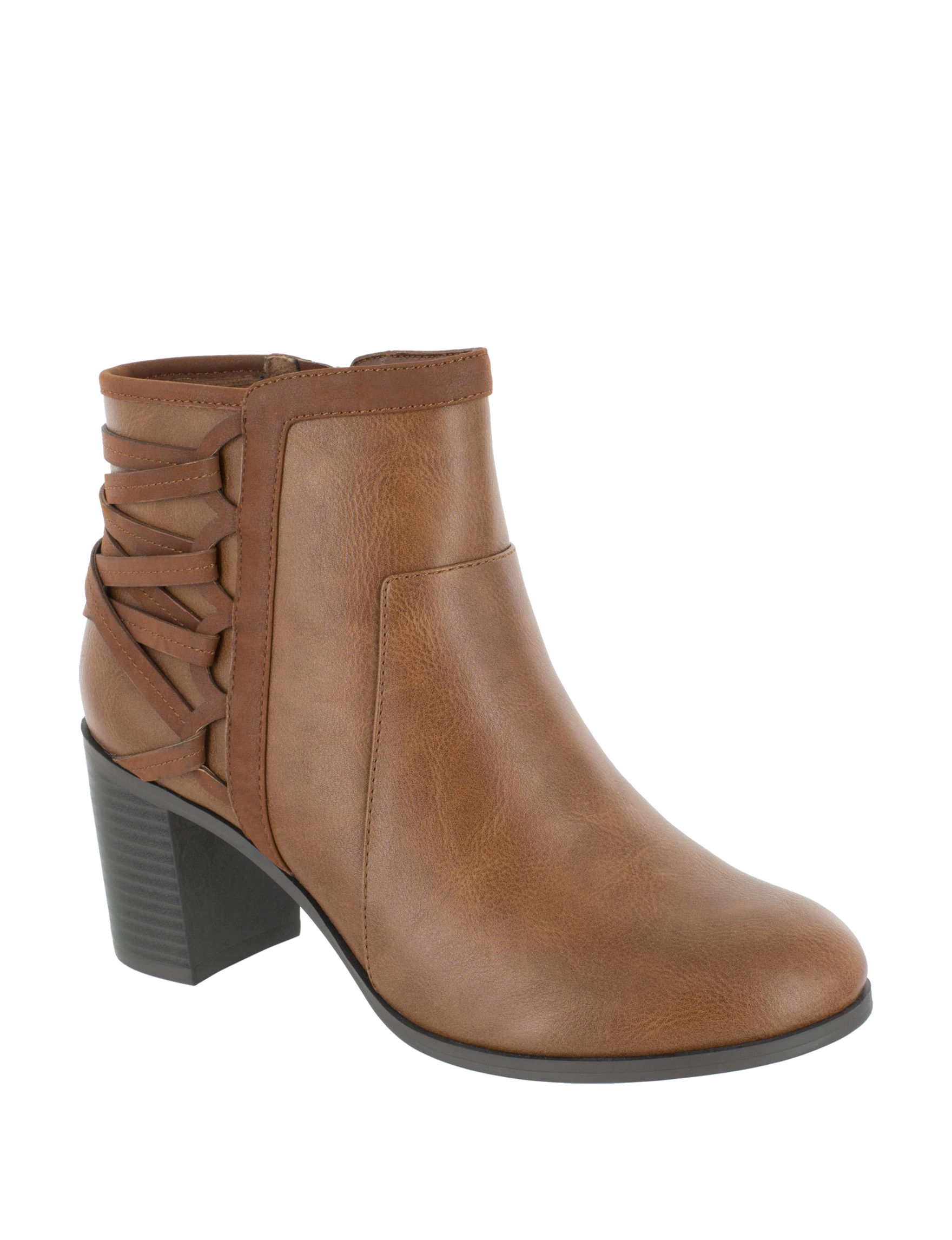 Easy Street Tan Ankle Boots & Booties