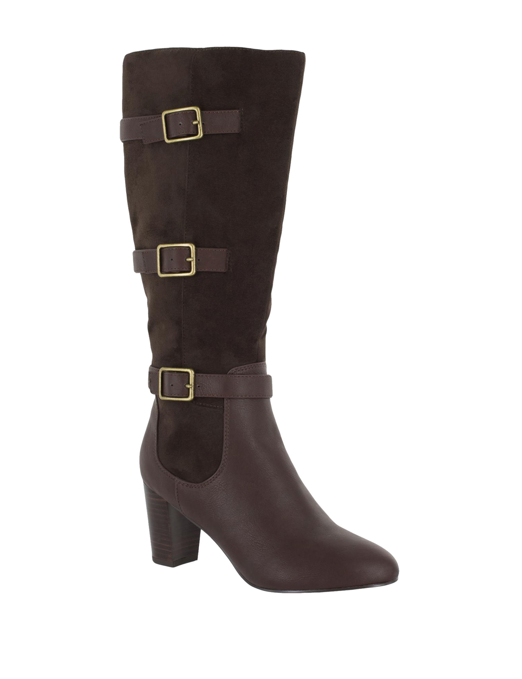 Bella Vita Brown Riding Boots Wide Calf