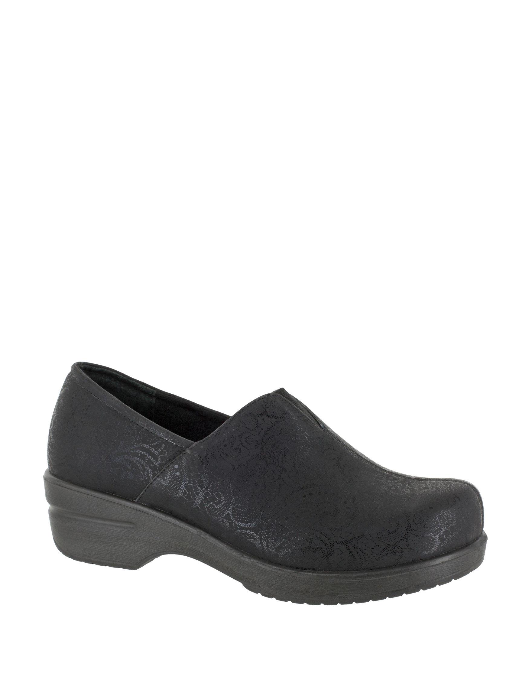 Easy Street Black Clogs Comfort