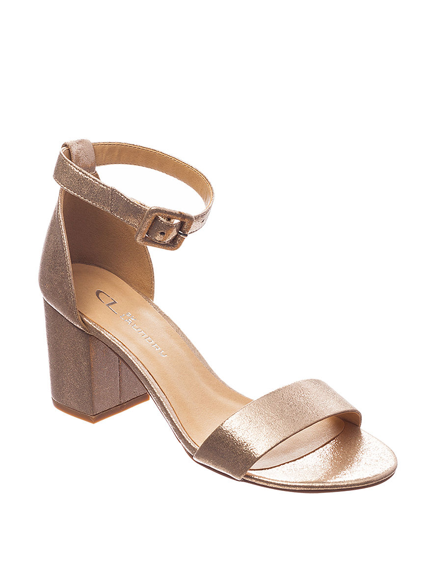 CL by Laundry Gold Heeled Sandals