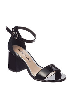 Rampage Black Heeled Sandals