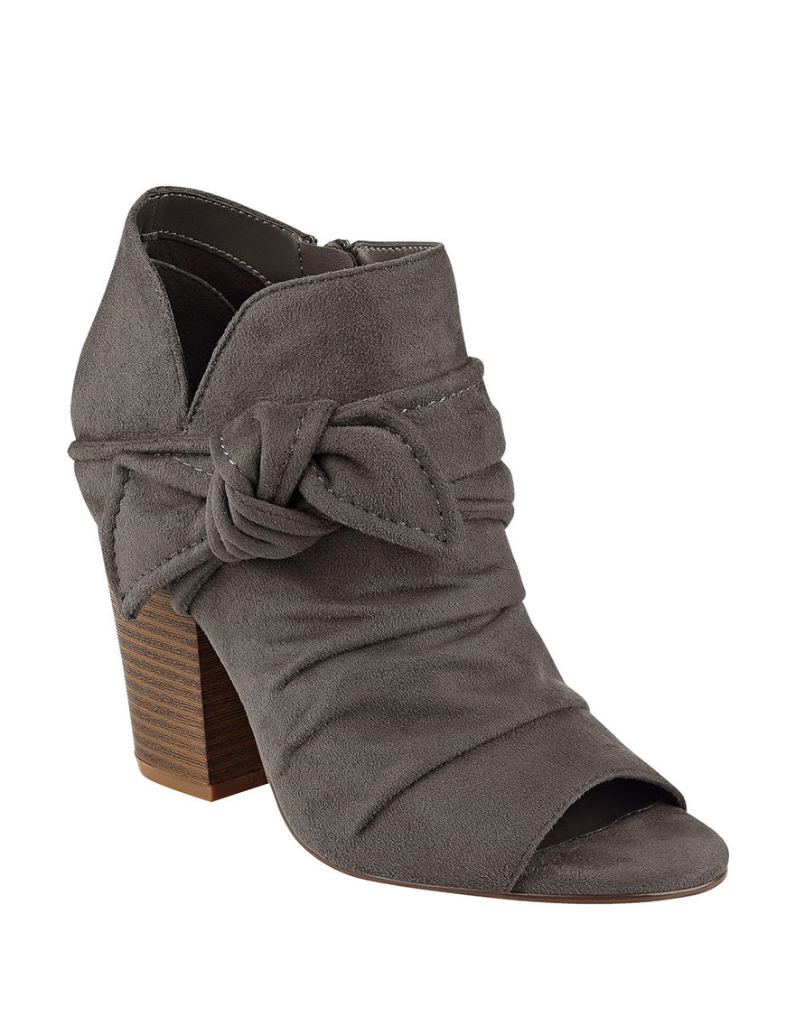 Indigo Rd. Grey Ankle Boots & Booties Peep Toe