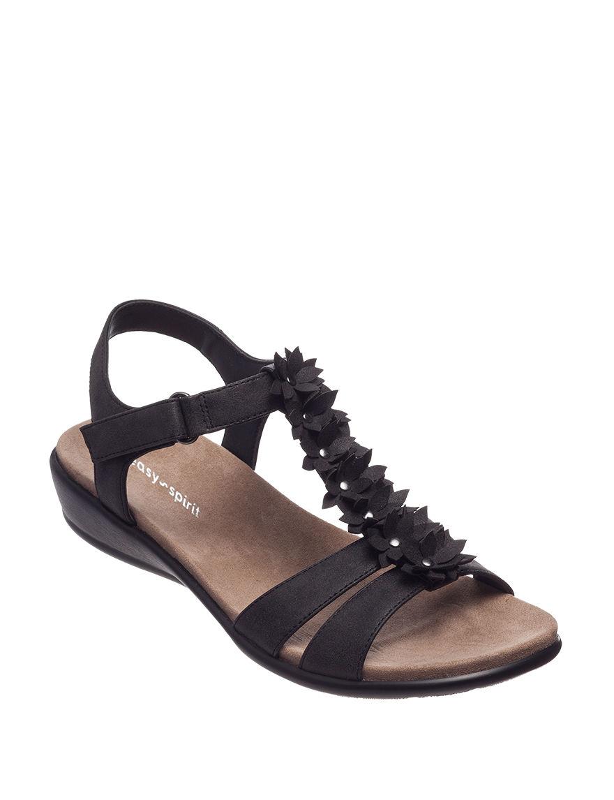 Easy Spirit Black Flat Sandals