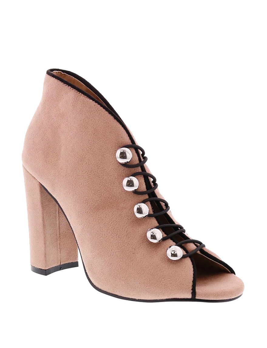 Penny Loves Kenny Nude Ankle Boots & Booties Peep Toe
