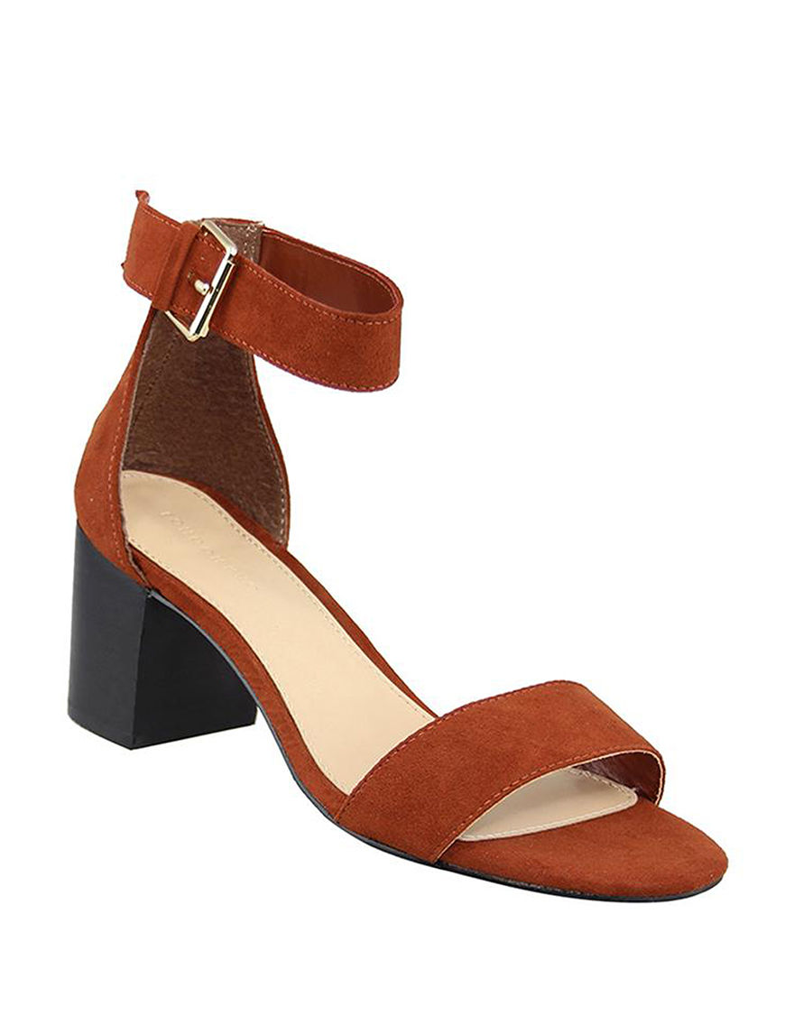 London Rag Rust Heeled Sandals