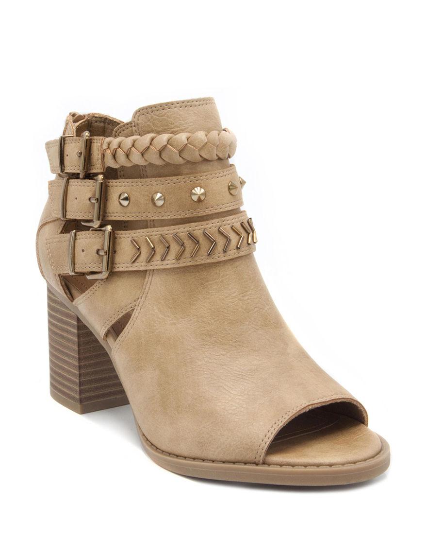 Sugar Tan Ankle Boots & Booties Peep Toe