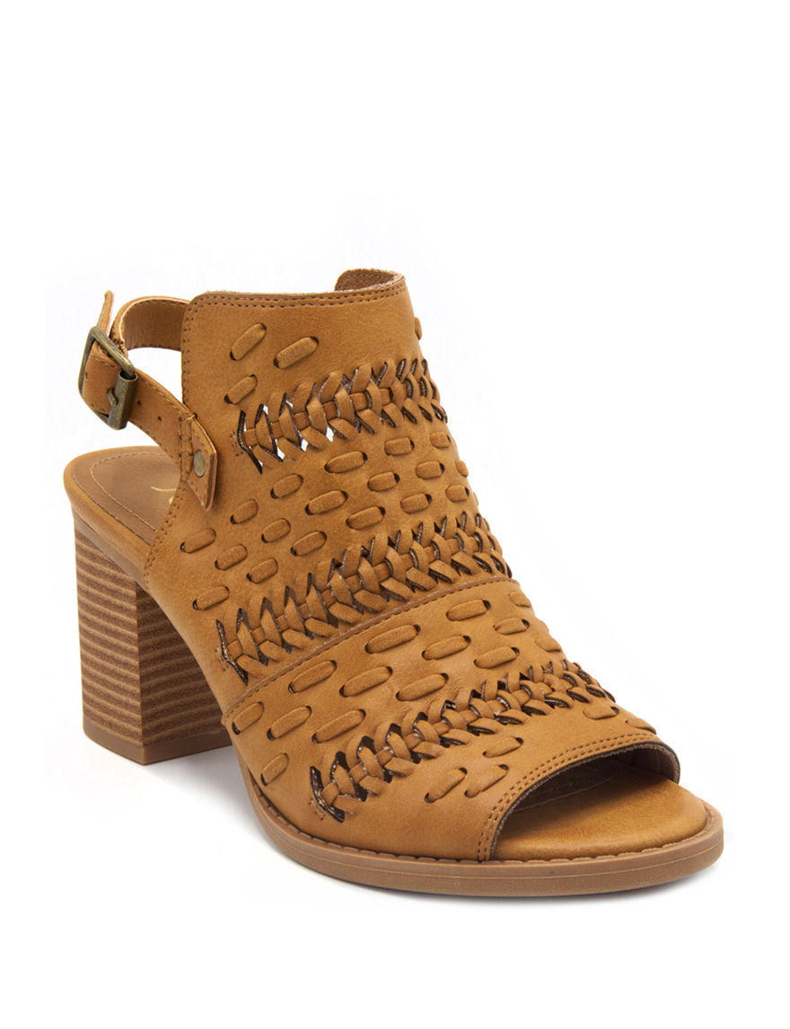 Sugar Brown Ankle Boots & Booties Heeled Sandals Peep Toe