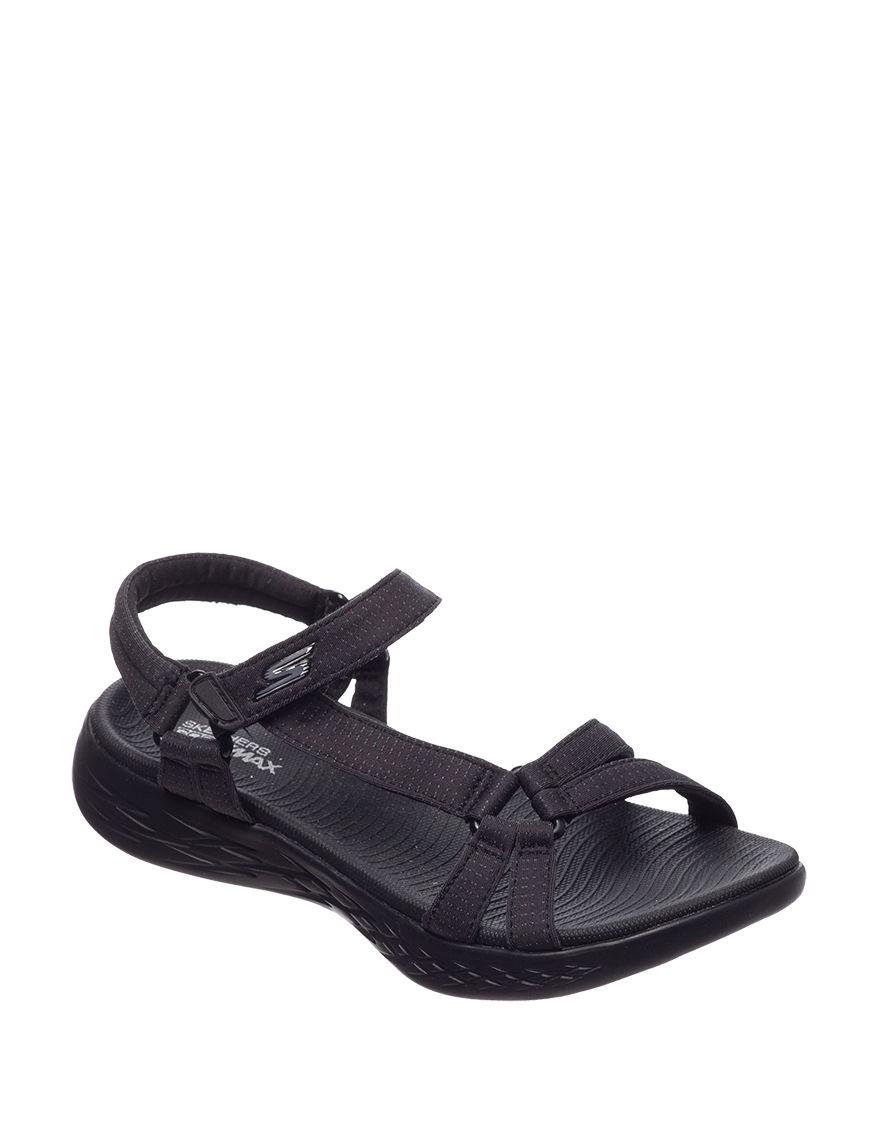 Skechers Black Sport Sandals
