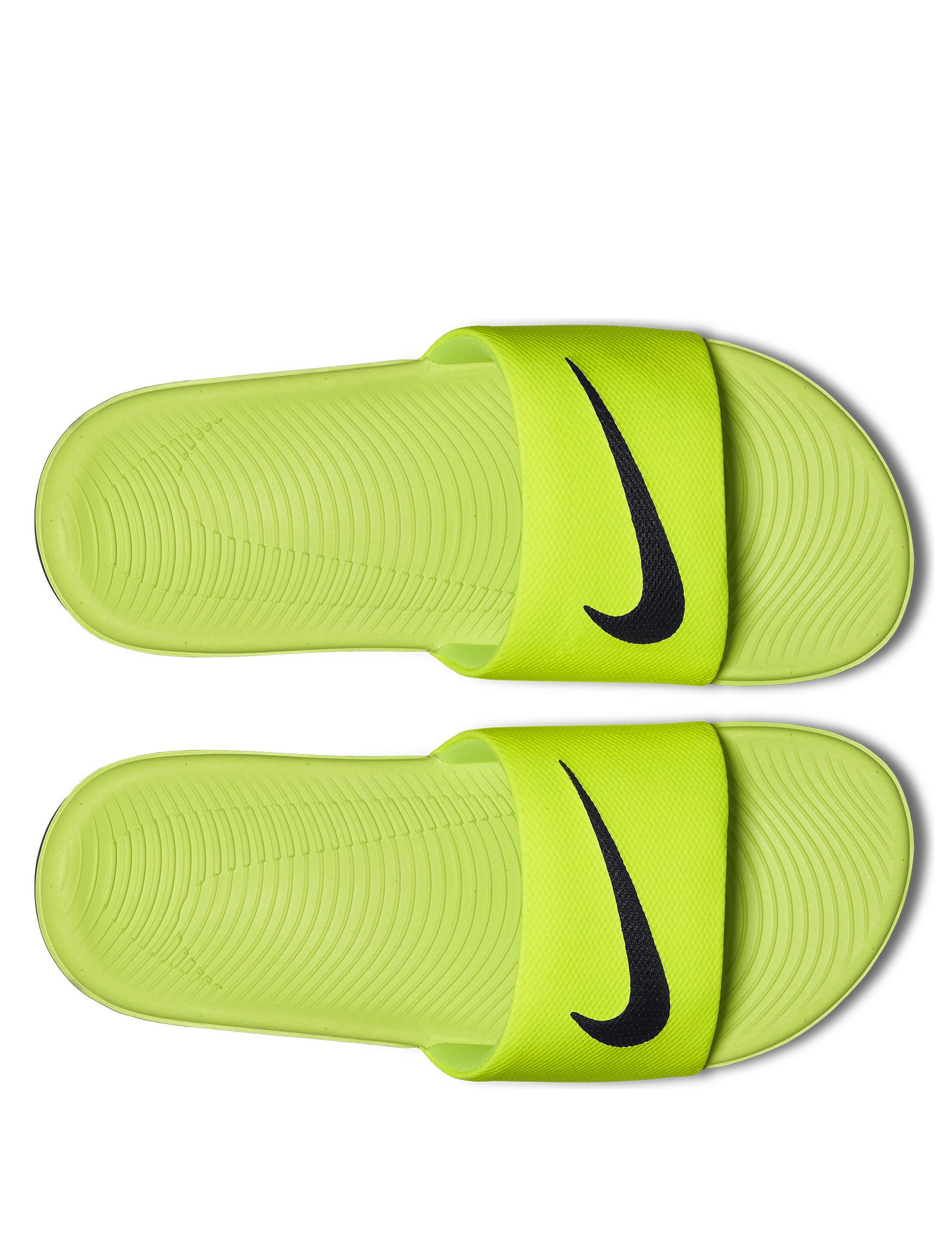 Nike Yellow / Black Flip Flops Slide Sandals