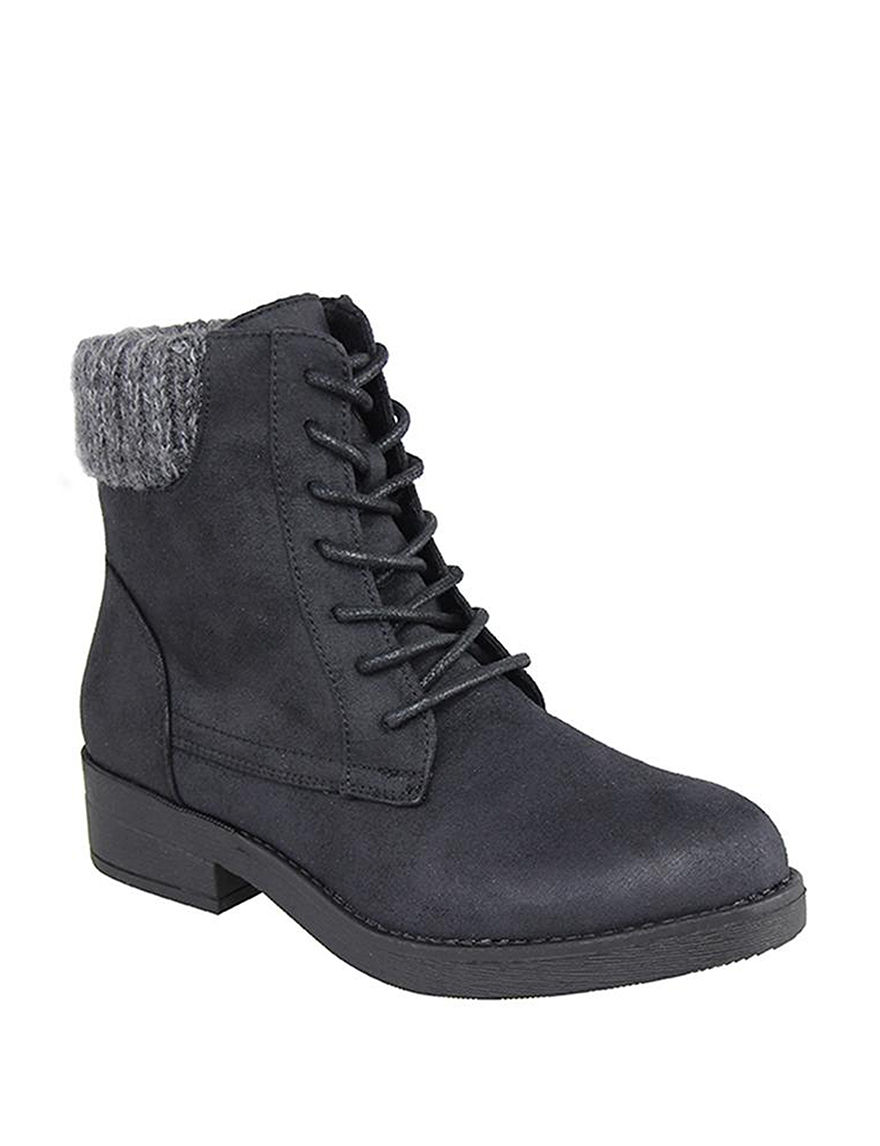 London Rag Black Ankle Boots & Booties