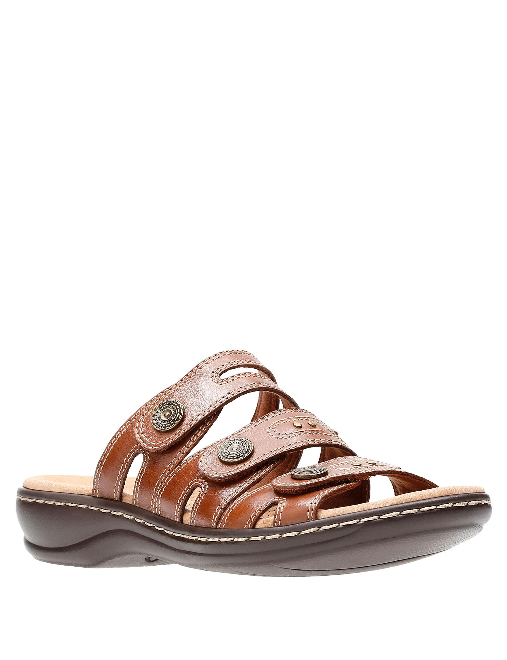 Clarks Tan Comfort Shoes Flat Sandals