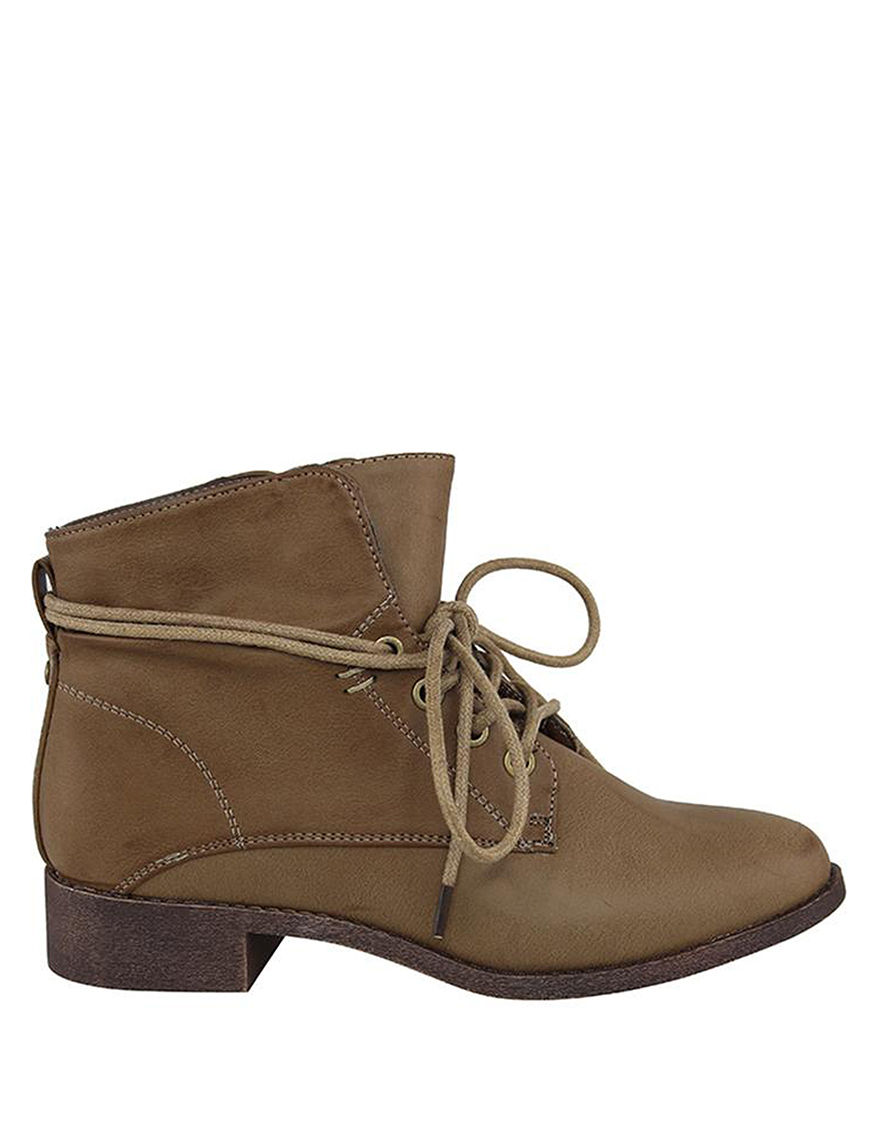 London Rag Taupe Ankle Boots & Booties