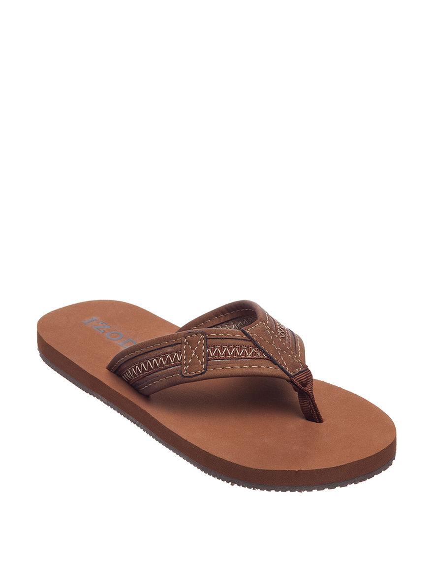 GBX Brown Flip Flops