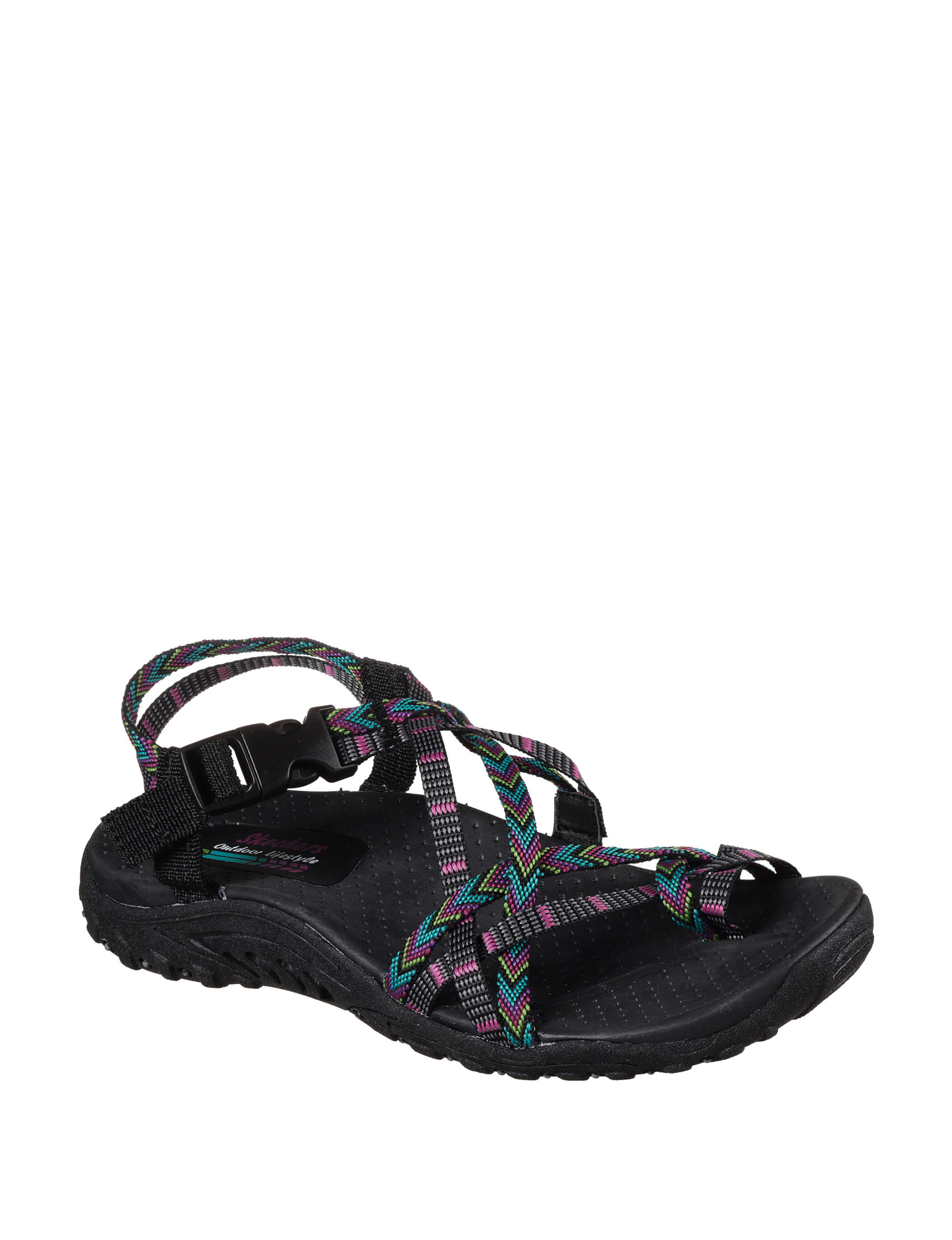 Skechers Black Multi Sport Sandals