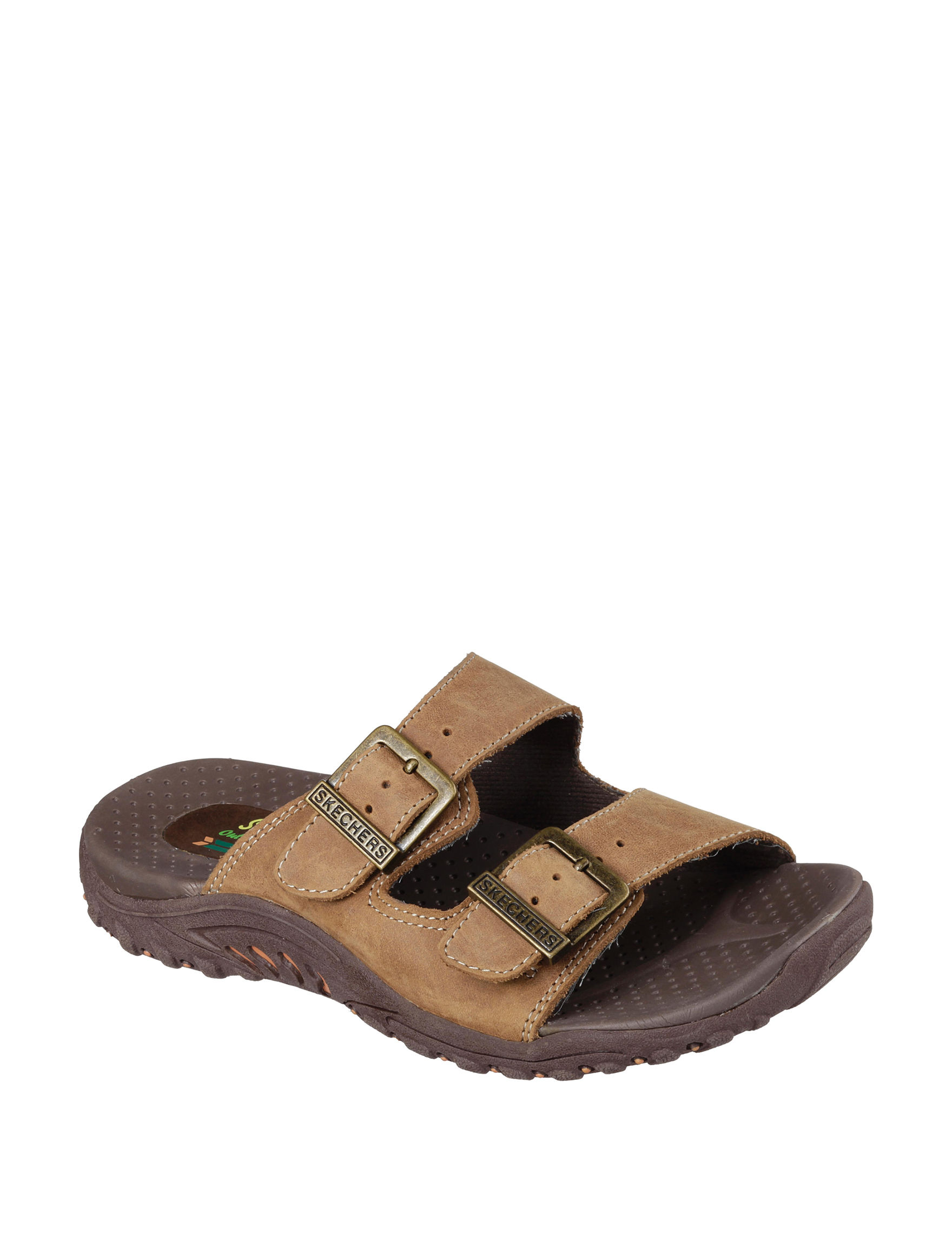 Skechers White Flat Sandals Sport Sandals