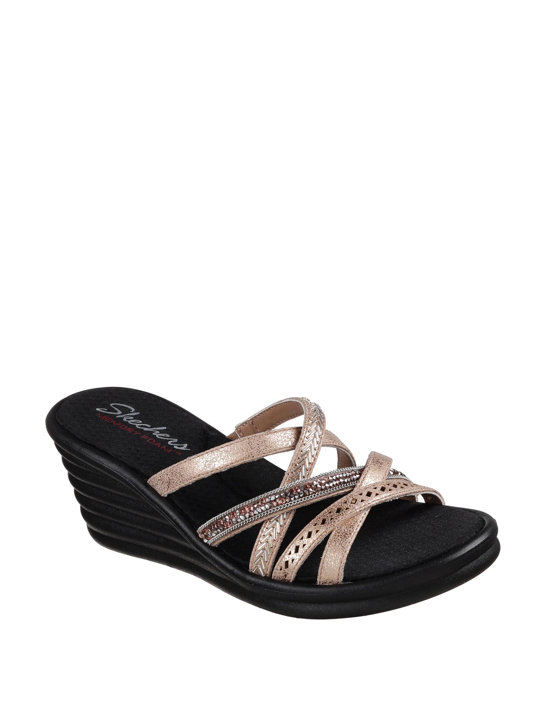 Skechers Gold Wedge Sandals