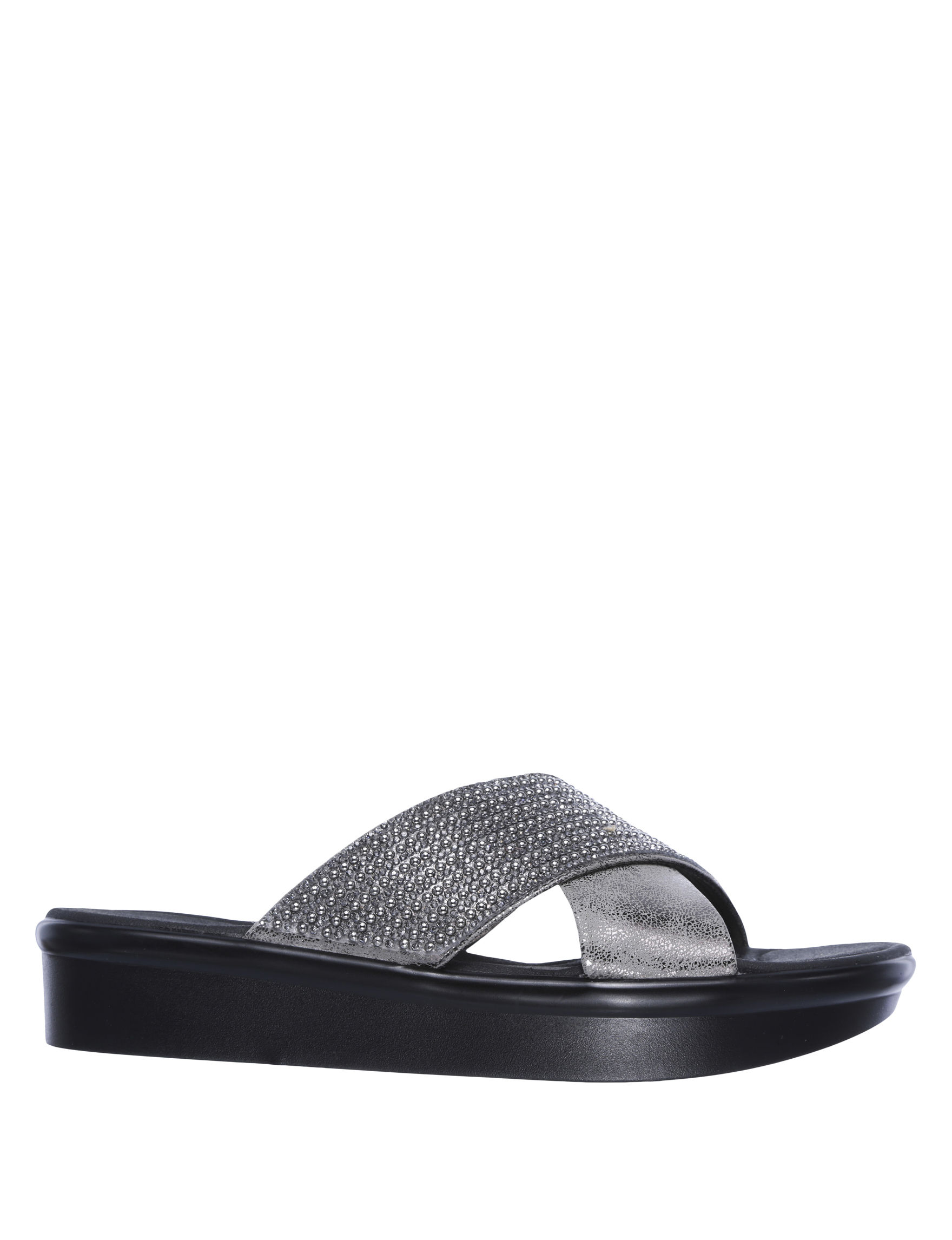 Skechers Pewter Wedge Sandals