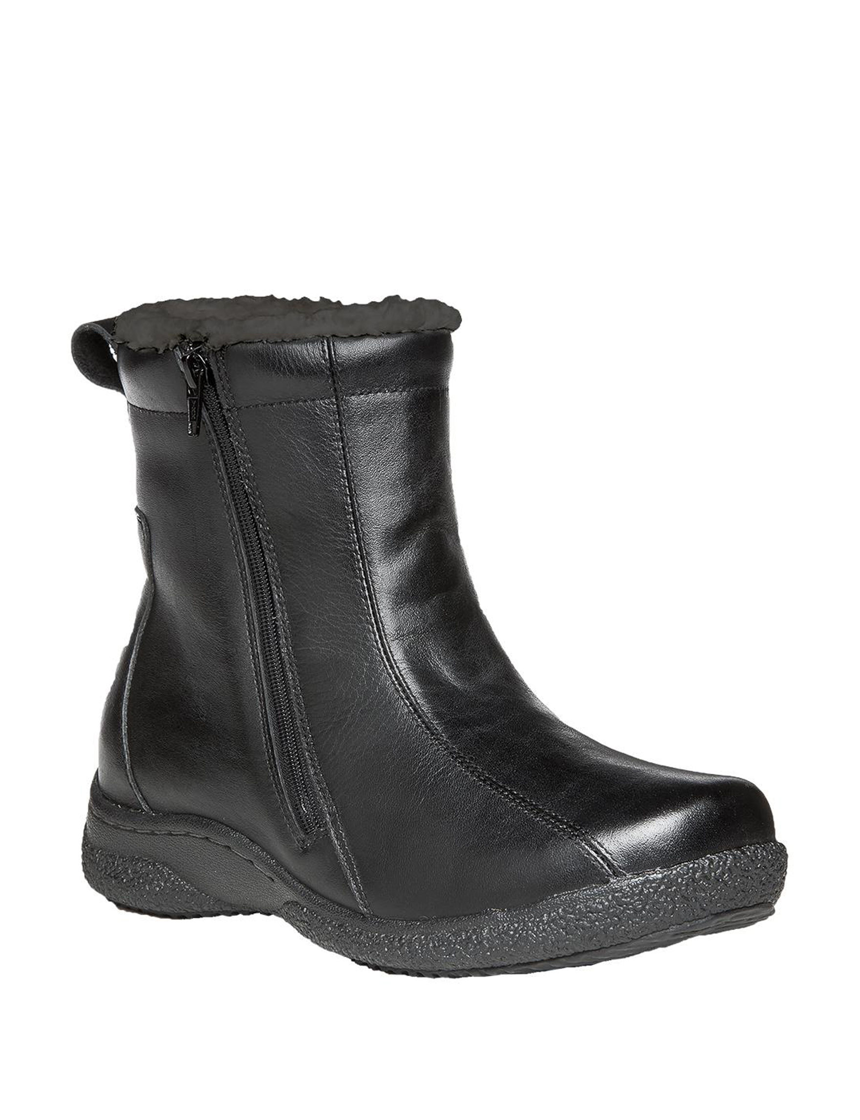 Propet Black Ankle Boots & Booties Winter Boots