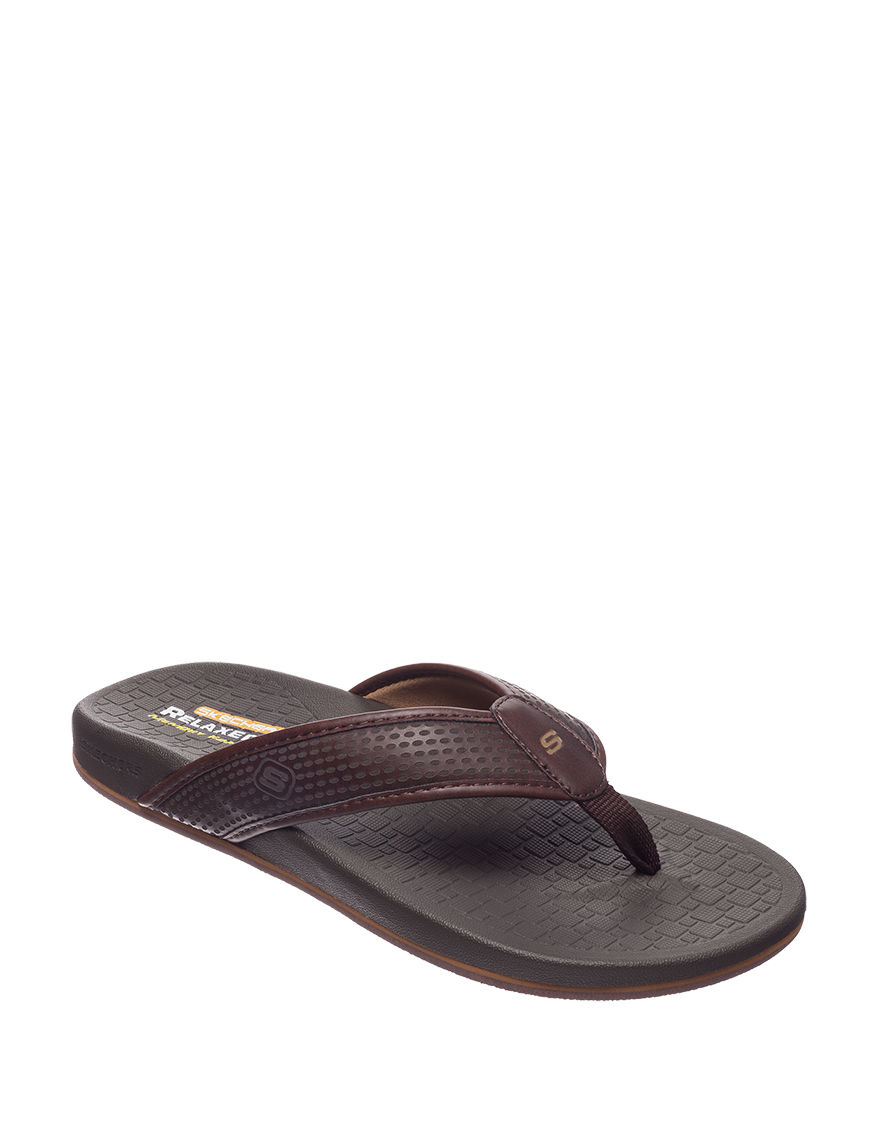 Skechers Brown Slide Sandals
