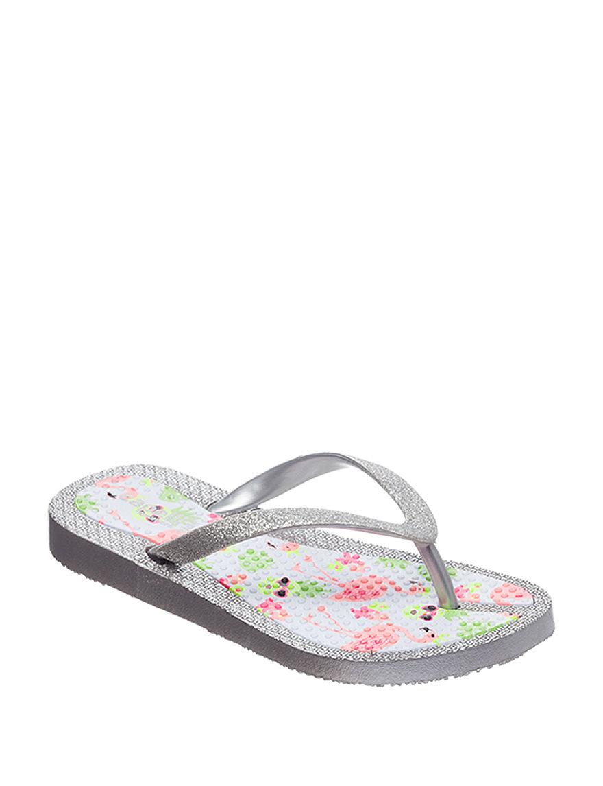Capelli Silver Flip Flops