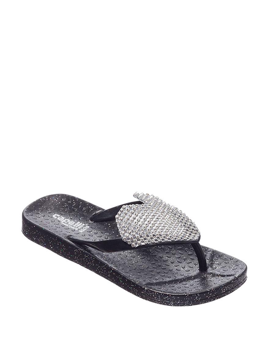 21cf2e5cc Capelli Jewel Heart Sandals - Girls 10-4