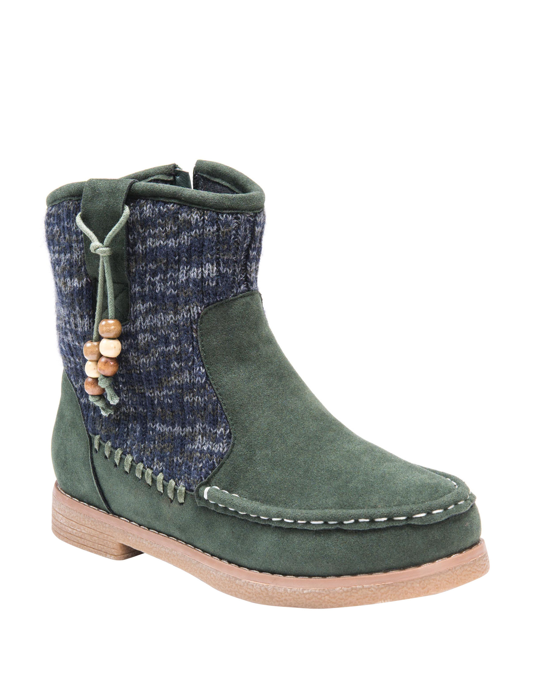 Muk Luks Army Green Winter Boots